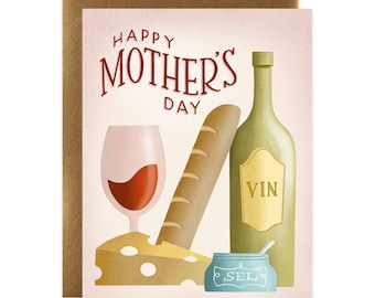 Happy Mother's Day Winery Card