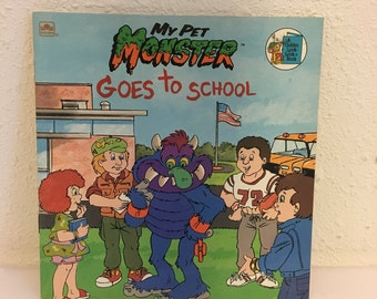 Vintage Book, My Pet Monster, My Pet Monster Goes To School