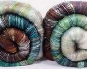 Fiber Batts -  Miranda of the Tempest - (3.2 oz.) 35% Cotswold fleece; merino, silk, bamboo, silk noil