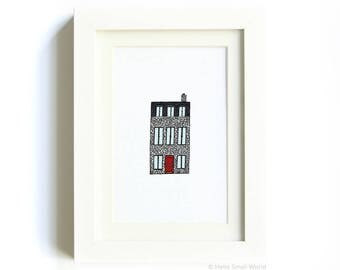 New York Architecture Print No. 10 - Quirky Architecture Print, NYC Wall Art