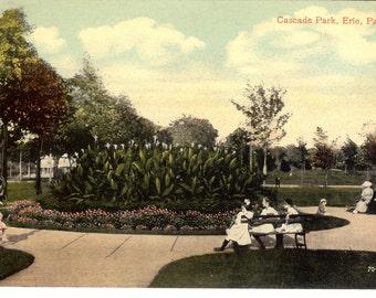 Vintage Postcard....Pennsylvania, Erie, Cascade Park...Unused..no. PA0015