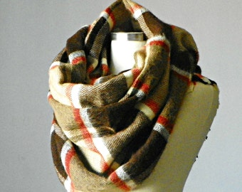 Blanket Scarf, Plaid Blanket Scarf, Tartan Scarf, Over Sized Blanket Scarves