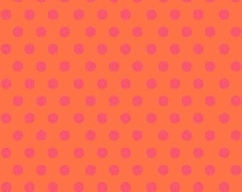 Sun Print 2016 by Alison Glass for Andover Fabrics - Sphere - Persimmon - A-8138-O - FQ - Fat Quarter Cotton Quilt Fabric 417