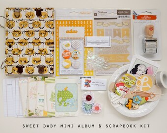 Sweet Baby Mini Album / Journal and Scrapbook Kit