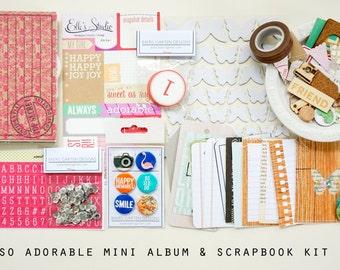 So adorable Mini Album / Journal and Scrapbook Kit