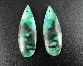 Chrysocolla Earring Beads,Jewelry making supplies S7721