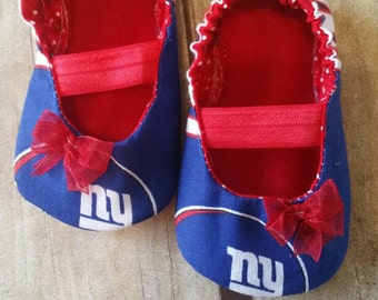 NY Giants Baby Maryjane Booties