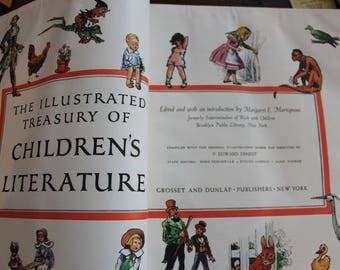 1955 Illustrated Treasury of Children's Literature -- Grosset & Dunlap Publishers, New York,  509 pgs.