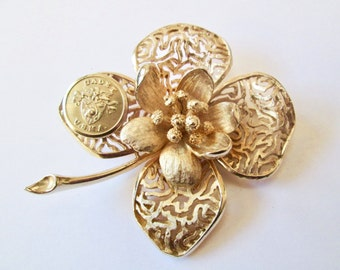 WEST POINT cadet vintage button brooch, better than a corsage. One of a kind