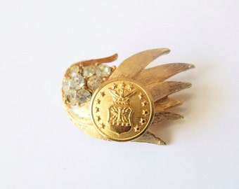 Rare AIR FORCE Academy, Air Force vintage button brooch, better than a corsage