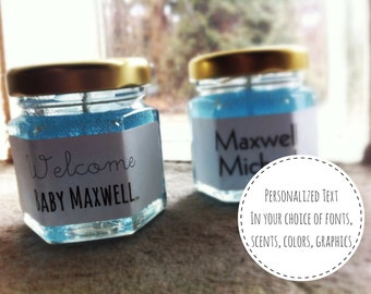 Gender Reveal Favors Candles Baby Shower Boy or Girl, Safari, Boho, Rustic, Elephant, Under the Sea, Woodland, Whale, Twins, Dinosaur, Owl
