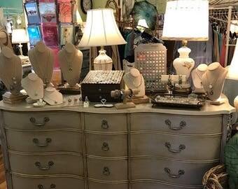 "SOLD....Serpentine Style Vintage Glam/Shabby Chic  ""Sophia"" Dresser"