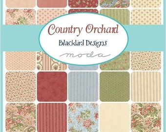 On Sale Country Orchard Fat Quarter Bundle by Blackbird Designs for Moda - One Fat Quarter Bundle - 2750AB