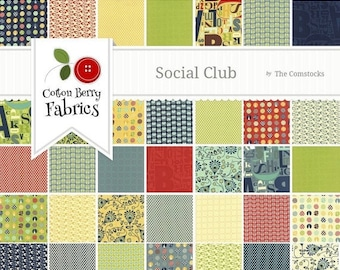 25% Off SALE Social Club Layer Cake by The Comstocks for Moda - One Layer Cake - 37090LC