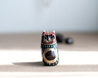 Sacred Owl Totem: Garnet