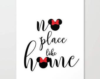 no place like home... two minnies.. women, disney home decor... 16x20..instant digital file