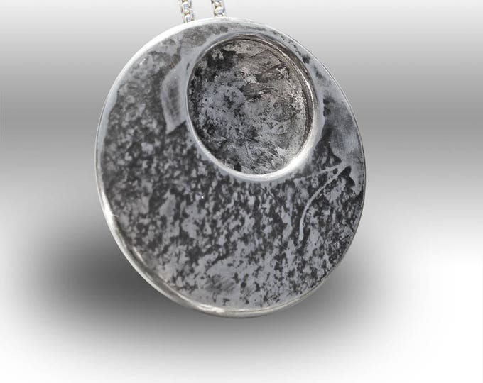 Silver Necklace, Silver Pendant, Silver Jewellery, Earthy Dome