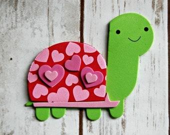 Foam Valentine Turtle Craft Kit, Magnet Craft, Party Activity, Children's Crafts