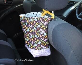 car trash or car toy's organizer with vynil lining