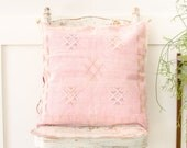 Moroccan Handmade Cactus Pillowcase Couch Accents Bedroom Pillow Kilim Sabra Silk