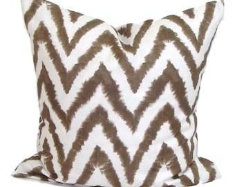 Brown CHEVRON PILLOWS Sale 18x18 inch Brown Pillow, Pillow Cover, Decorative Pillow, Throw Pillow, Pillow, Accent Pillow, Brown Pillow Cover