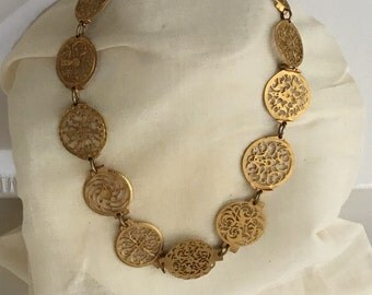 Antique French Pocket Watch Chunky Statement Choker Necklace