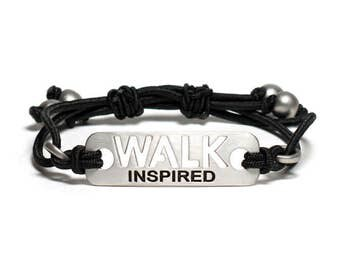WALK INSPIRED - Walking stretch adjustable Bracelet, Walk Jewelry, Gift for Walkers, Walking Motivation, Walker Partner Gifts, Walk AVON 39