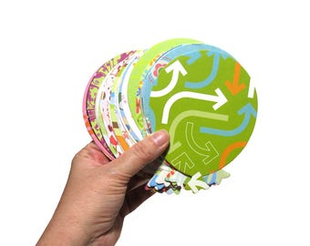 50 Colorful Balloon Die Cuts - Card Stock Balloons - Card-Making Supplies - Birthday Balloons - Paper crafting & Scrapbooking - Multicolored