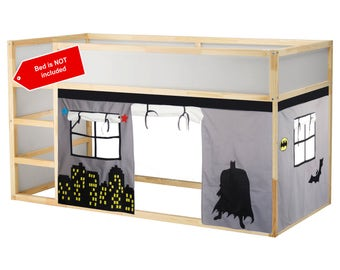 Batman Bed Playhouse / Bed tent / Loft bed curtain - free design and colors customization