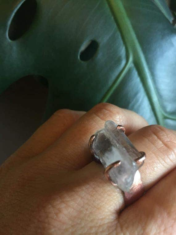 Copper Quartz Statement Ring