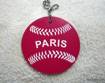 Bat Bag ID Tag, Girls' Softball Bag ID tags, Baseball Bag Identification Tags, Luggage Tags, Backpack ID Tag, T-Ball Bag Tag