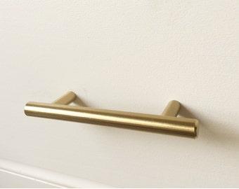 Brass Knobs And Brass Drawer Pulls Lucite By ForgeHardwareStudio