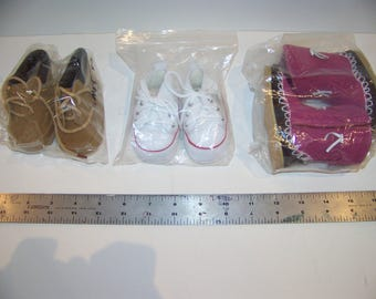 3 pr of doll shoes brand new from hobby store