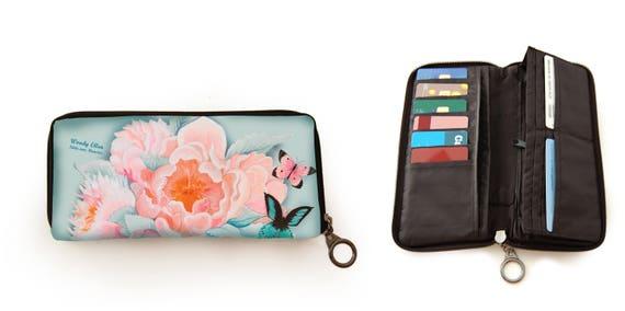 Retro wallet, vintage wallet, Idda, gift for her, gift mom, Woody Ellen bag, valentine gift, christmas gift ideas, floral print wallet,money