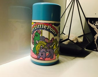 Vintage My Little Pony thermos. Free shipping.