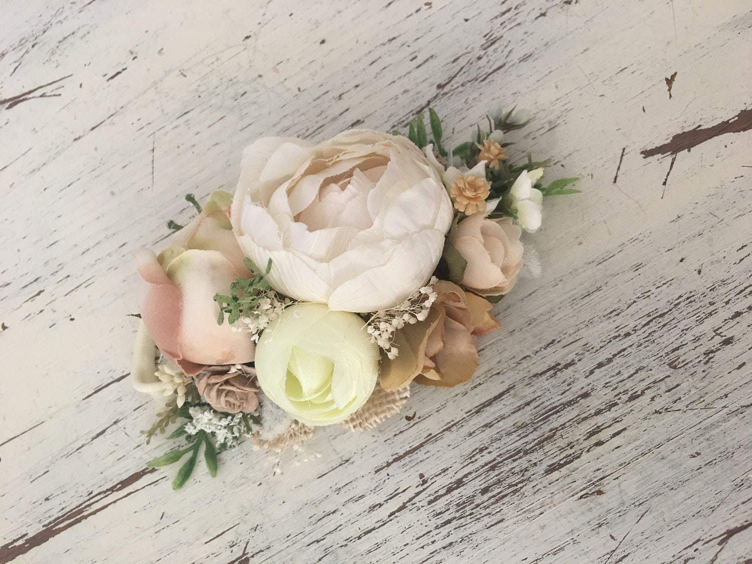 Natural Floral Headband Ivory Flower Crown Well Dressed