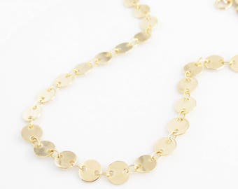 Tiny Coin Choker, Layering Necklace, Layered Jewelry, Discs, Gifts for Her, Mother's Day, Anniversary, Bridal, Bridesmaid