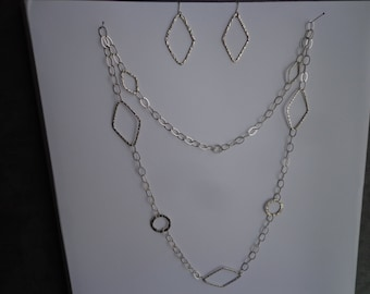 Silver .925 necklace & earring set.