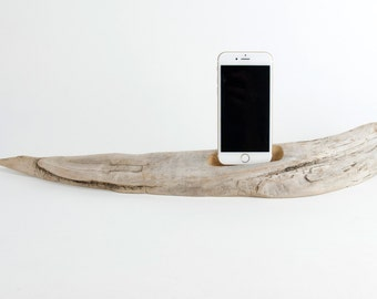 Docking Station for iPhone, iPhone dock, iPhone Charger, iPhone Charging Station, iPhone driftwood dock, wood iPhone dock/ Driftwood-No. 937