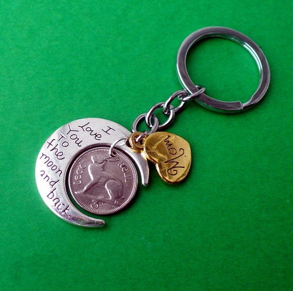 50th Irish Birthday Keyring For Mum Irish Gift To The Moon