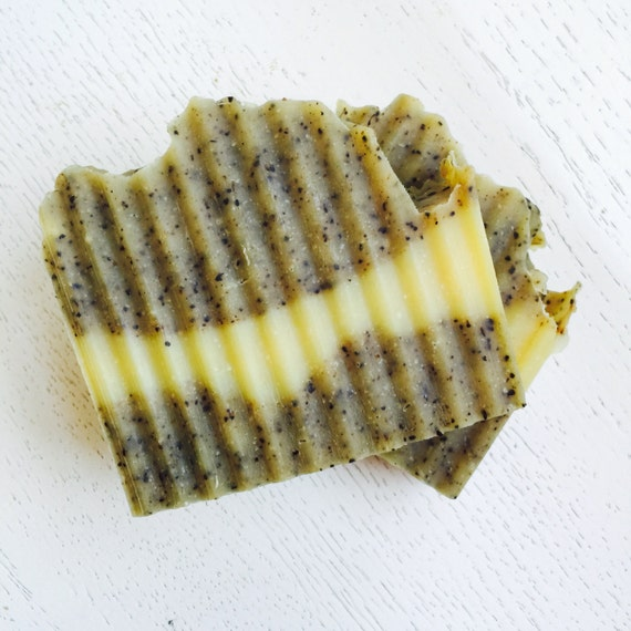 Orange Patchouli Coffee Soap - Kitchen/Garden Soap - Gardeners Soap -  all natural handmade soap - vegan - cold process