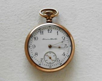 1908 Hampden open face 16s Pocket Watch Works