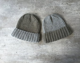 Mens Knit Hat, Mens Hat, Man Beanie, Fisherman Beanie, Mens Cuffed Beanie, Knit Ribbed Beanie, Mens Classic Knit Hat, Ribbed Hat