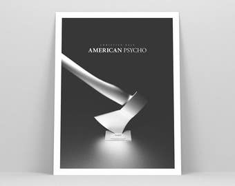 American Psycho Poster ~ Horror Movie Poster, Film Gift, Art Print by Christopher Conner