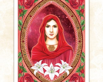 LARGE 'Celestial Dove' print