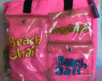 Vintage Rare LIP SMACKER Beach Bag