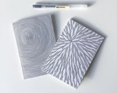 Set of 2 A6 notebooks / graphic notebooks / plain notebook / lined notebook / recycled notebook / stocking filler / patterned notebook