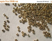 Pre-Black Friday SALE - DB-34, Miyuki Delica Beads, Size 11/0, 24kt Gold Plated - 2 grams or, choose a Larger Pkg from the 'Select an Option