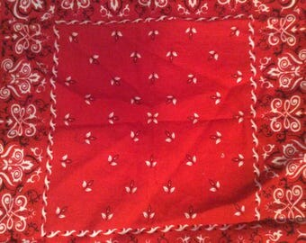 Vintage Red Bandana / Classic Red Bandana / Made in Japan