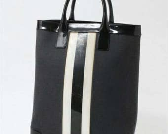 Gucci white stripe bag vintage